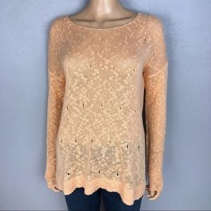 C&C California Coral Pullover Sweater Distressed
